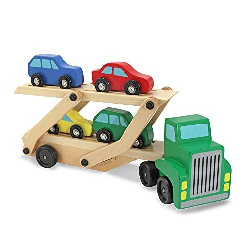 Melissa & Doug Car Carrier Truck and...