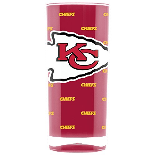 NFL Kansas City Chiefs 16oz Insulated Acrylic Square Tumbler