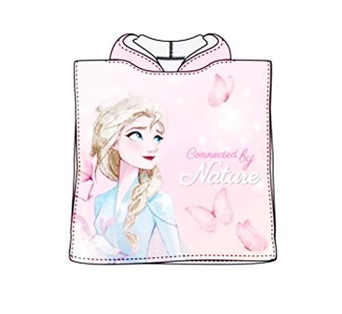 Theonoi Badetuch Handtuch Bademantel Badeponcho Kapuzen Poncho für Kinder tolles Geschenk für Mädchen Eisprinzessin (Frozen II)