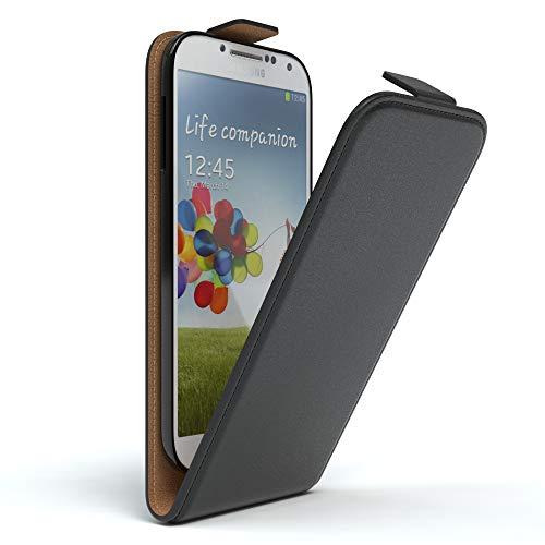 EAZY CASE Hülle kompatibel mit Samsung Galaxy S4 / S4 Neo Hülle Flip Cover zum Aufklappen, Handyhülle aufklappbar, Schutzhülle, Flipcase, Flipstyle Case vertikal klappbar, Kunstleder, Schwarz