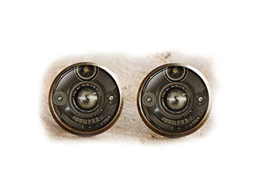 Cámara lente cámara de fotos Vintage, Semental Pendientes