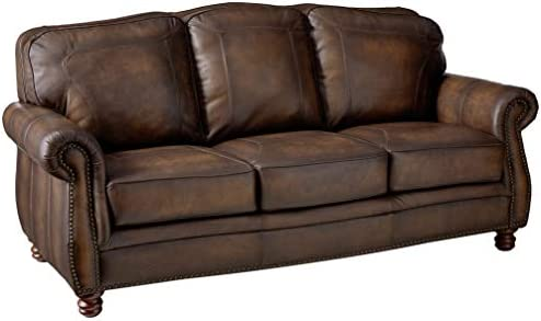 Coaster Home Furnishings Montbrook Sofa with Rolled Arms Hand Rubbed Brown product image