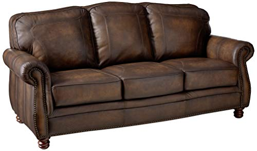 Coaster Home Furnishings Montbrook Sofa with Rolled Arms Hand Rubbed Brown