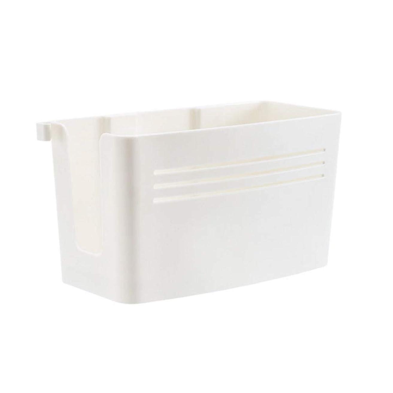 目を覚ます幻滅フィクションドライヤーホルダー ヘアドライヤー アクセサリー 洗面所 収納 小物 収納ボックス オーガナイザー 穴あけ不要 壁掛け 取り外し可能 取り付け簡単 (ホワイト)