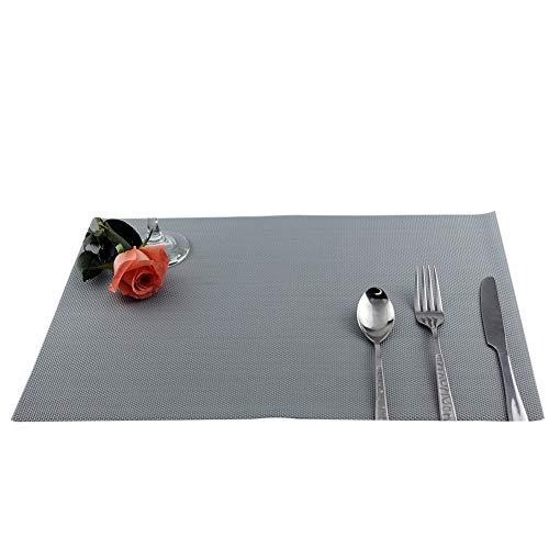 display08 Set de table en PVC lavable et antidérapant – Argenté