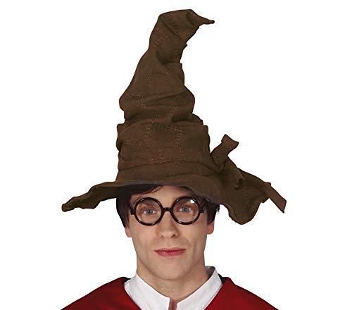 shoperama Sombrero de bruja con aspecto de ante, grande, flexible, sombrero de mago Merlin, bruja, Gandalf, accesorio para disfraz, color: marrón