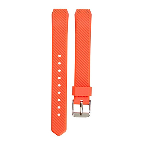 HighlifeS Replacement Wristband Band Strap Buckle For Fitbit Alta Wristband Bracelet (Orange)