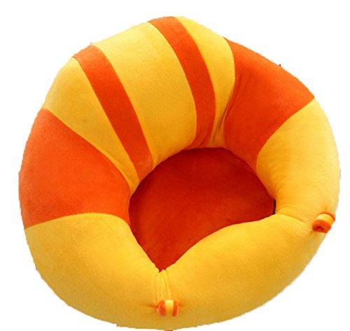 EKEA-Home - Silla para Aprender a Sentarse, Respaldo de cojín, Asiento de Banco, Silla de Cena portátil, sofá pequeño de Felpa para Jugar, Naranja, Outer Ring :43x43cm/16.94'x16.94'