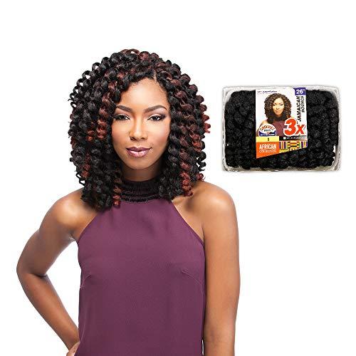 Sensationnel 100% Kanekalon X-Pression African Collection 3X Triple Packs Jamaican Bounce 26' Crochet Braid - 3XJB26 (99J [Dark Wine])