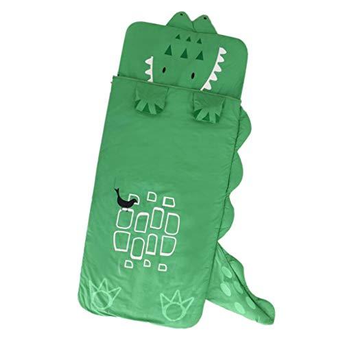Fenteer Kinder Schlafsack Deckenschlafsäcke mit Kopfteil - Krokodil