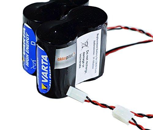 akkupilot Ersatzbatterie kompatibel zu ABUS FU2986 kompatibel für 2WAY-Funk-Außensirene