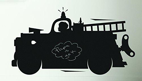 KEK Amsterdam - Chalkboard/Kreidetafel-Wandposter - Feuerwehrwagen - 98 x 53 cm