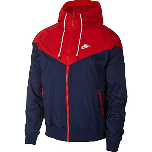 Nike Herren Jacke NSW Windrunner, Midnight Navy/University Red/W, XS, AR2191