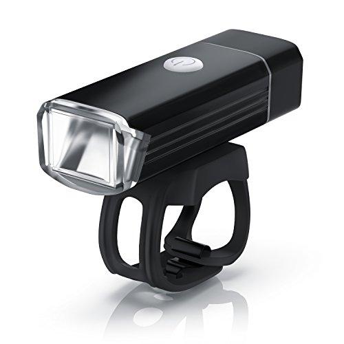 LED Kinderwagenlampe - einfache Schnell-Befestigung - 1000mAh Lithium-Ionen Akku - USB-Port zum Aufladen - stoßfest - spritzwassergeschützt - On Off-Taste - schwarz