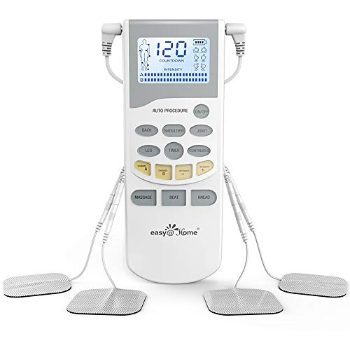 Easy@Home Professional Grade Rechargeable TENS Unit Electronic Pulse Massager,Backlit LCD Display,...