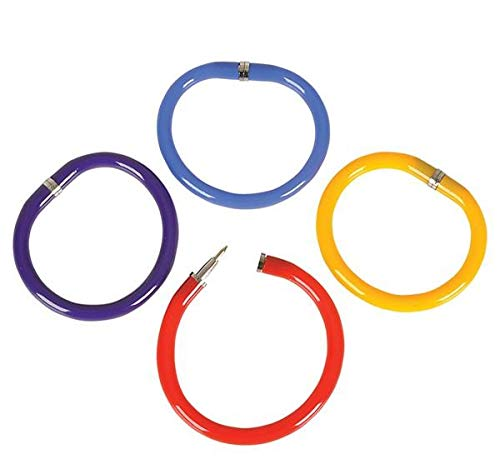 Rhode Island Novelty Bendable Pen Bracelets Assorted Colors Set of 12