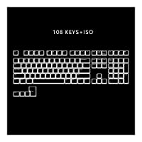 メカニカルキーボードのキーキャップ ANSI ISOプロフィールプリンキーセットのための機械的なキーボードを通じ108 PBTダブルショット磨き (Color : WWhite 108 iso)