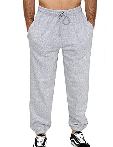 Mens Fleece Jogging Bottoms S-6XL (XL, Greymarl)