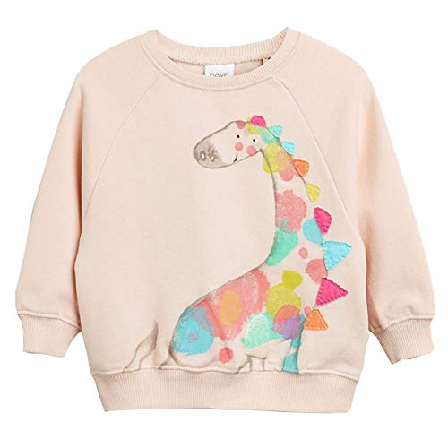 Pullover Mädchen Baumwolle Langarm T-Shirt Kinder Sweatshirt Frühling Sommer Herbst Winter Giraffe Rosa 110