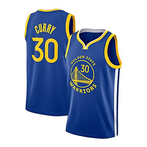 WCLOC Camiseta De Baloncesto para Hombre Y Mujer, Warriors #30 Curry Camisetas De Verano Camiseta De Ventilador Chaleco Sin Mangas Ropa Deportiva Uniformes Deportivos Transpirables