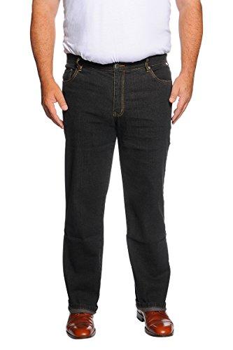 MARINA DEL REY Herren 5-Pocket Jeans Regular FIT Stretch in Übergröße, Schwarz, 66