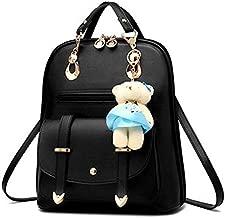 حقيبة ظهر للنساء جلد بولي يوريثين كاجوال حقائب مدرسية