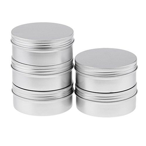 B Baosity 5x 250ml Aluminum Blechdose Jar Zinn Container Behälter für Creme Essen Kerzen und...