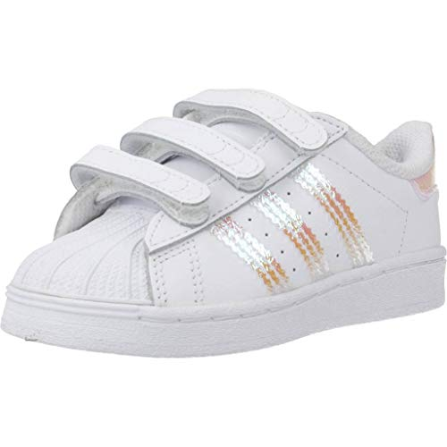 adidas Originals Unisex-Baby Superstar Sneaker, Footwear White/Footwear White/Footwear White, 23 EU