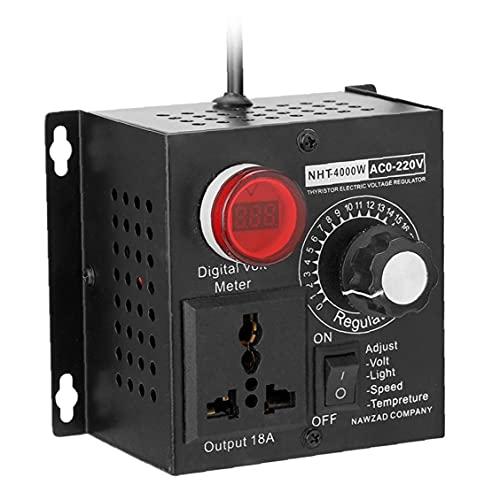 SCR regulador de voltaje electrónico 4000W 220V Frase única del motor de ventilador de ventilador de ventilador fuente de alimentación