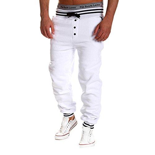 HUASHI - Manteau - Homme - Blanc - Large