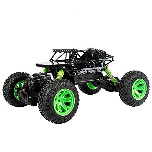 Weaston 1/18 Vehículo de Escalada Todoterreno, camión Monstruo Bigfoot Todoterreno de 2,4 g, Coche eléctrico de Control Remoto de 4 Canales, Coches de Juguete con neumáticos de Goma al vacío