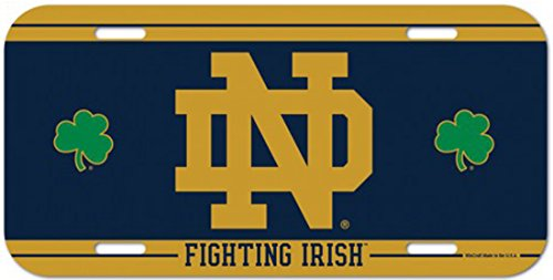 Wincraft Notre Dame fighting Irish NCAA 6 x 12 Inch Plastic License Plate