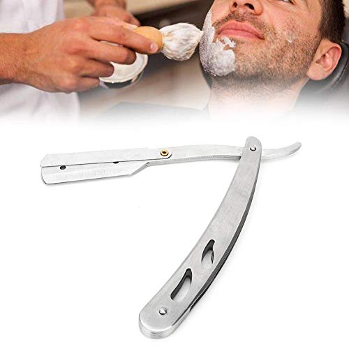 【ó 】 Navaja De Afeitar, Navaja de barbero clásica profesional, porta cuchillas...