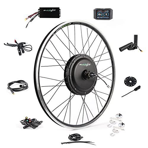 Ebike Conversion Kit 48V 1200W 700C Direct Drive Waterproof Electric Bike Conversion Kit - Ebike Kit - Hub Motor Kit with TFT 750C Display (Front/ColorTFT/Thumb)