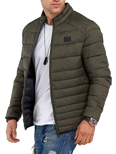 JACK & JONES Herren Übergangsjacke Steppjacke mit Stehkragen (XXL, Forest Night)