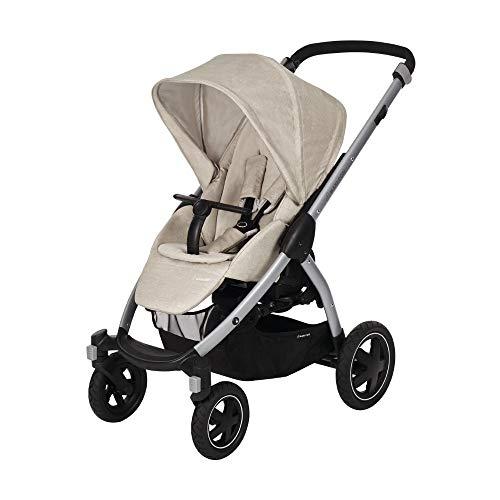 Maxi-Cosi Stella Kinderwagen mit extra großem Verdeck und Outdoor-Reifen, extrem wendig und in Kombination mit Babyschale oder Babywanne ab der Geburt nutzbar (0-15 kg), nomad sand