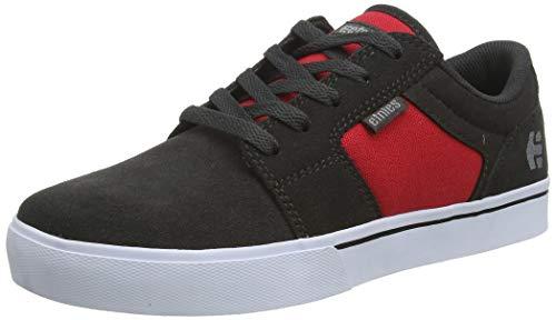 Etnies Boys Barge LS Skate Shoe, Dark Grey/Red, 3.5C Medium US Big Kid