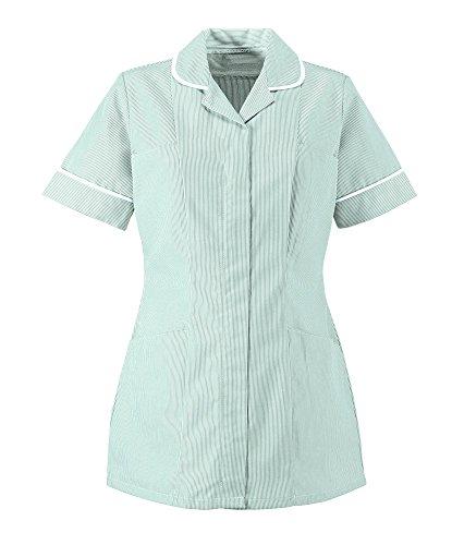 Alexandra al-st298aq-140donna Stripe tunica, filetto bianco/Trim, petto 140cm (taglia 32), colore: celeste/bianco
