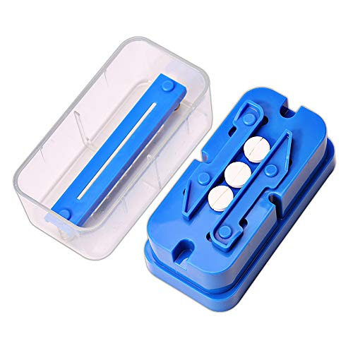 Pill Cutter,Pill Splitter Pill Divider Suitable for Large and Small Pills and Vitamin Tablets,Accurate Even Cut for Splitting and Quartering Round or Oblong Pills