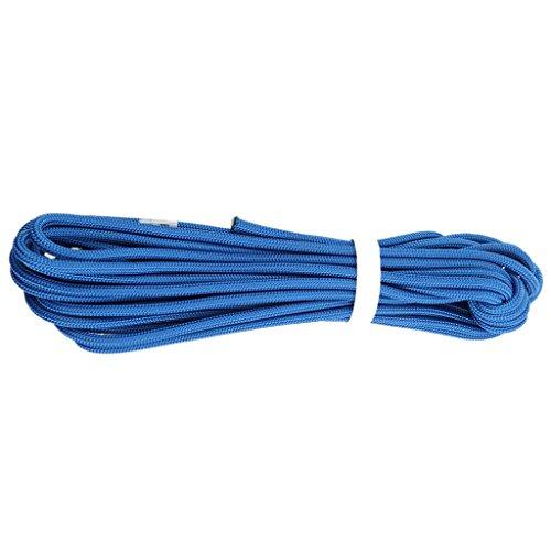 MagiDeal Professionnel Escalade Corde de Sécurité de Survie Corde Auxiliaire Randonnée - Bleu, 10m