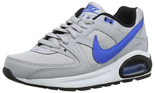 Nike Jungen Sneaker Air Max Command Flex GS Laufschuhe, Mehrfarbig (Wolf Grey/Signal Blue-Black-White 007), 37.5 EU