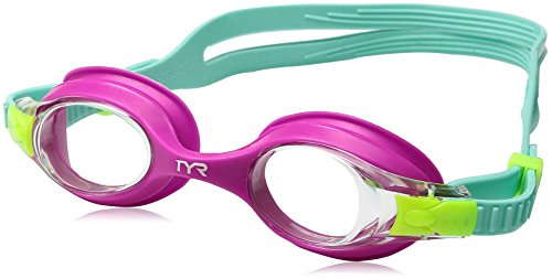 TYR Kids Swimple Goggles, Clear/Pink/Mint, One Size