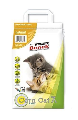 Super Benek-CornCat Sac de litière de maïs pour Chat Non parfumée