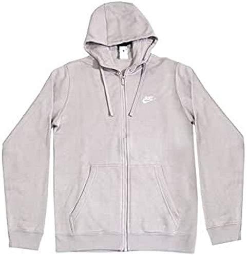 Nike M NSW FZ FLC Club, Felpa con Cappuccio Uomo, Particle Rosa/Particle Rosa/Bianco, XL