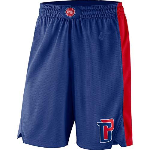 MZYW pantalones cortos de hombre Detroit Blue,Pistons 2019/20 Icon Edition Swingman Baloncesto cortos para hombres