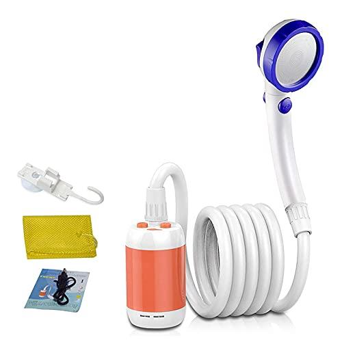 YQG Ducha eléctrica portátil para Acampar, con Modelo de 3 flujos, 4800 mAh con batería, para Acampar/Senderismo/mochileros/Viajes/Playa/Mascotas