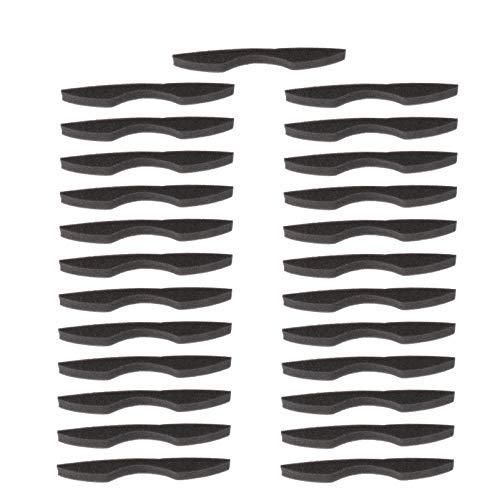 HEALLILY 25 Stück Anti-Beschlag-Nasensteg-Streifen, Schwamm, Nasensteg-Pad, Gesichtsinnenstütze, Rahmendichtung, Nasenschutz, schwarz