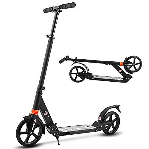 WeSkate Kick Scooter for Adults, Teens, Adjustable T-Bar Handlebar, Folding Adult Kick Scooter, Lightweight Alloy Deck, Adults 220LBS Max Load