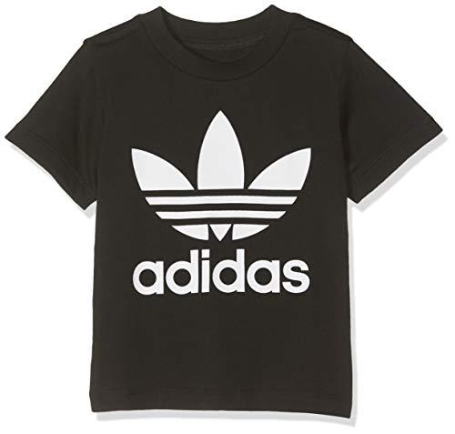 adidas Kinder Trefoil Tee T-Shirt, Black/White, 912M