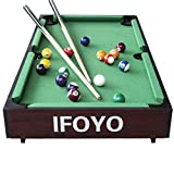 IFOYO 36-Inch Billiard Table, Mini Pool Table, Tabletop Snooker Game Set Portable Pool Table with Cues, Balls, Racking Triangle – Green Felt